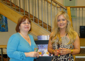 Alison at the launch of her recent novel