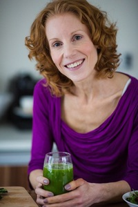 Christine portrait green juice (