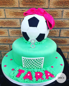 Girl_s Football Birthday Cake
