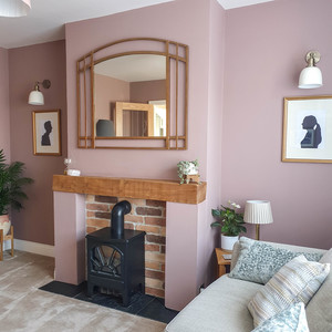 pink and gold living room-12
