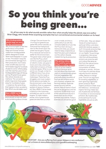 Good Housekeeping piece on green issues