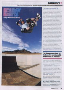 Ryanair magazine: Tony Hawk