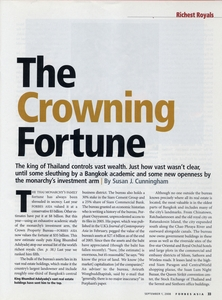 Crowning fortune