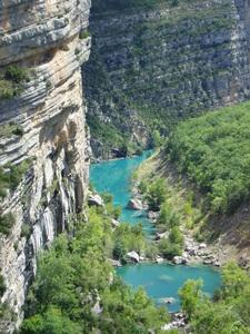 Gorge by Lac de Castillon 1b
