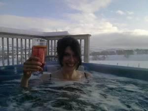 Xmas hot tub