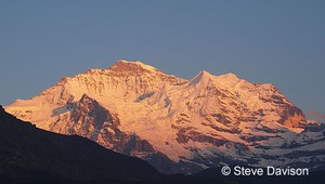 The Jungfrau in evening light Switzerland