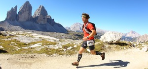 Running through the Dolomites