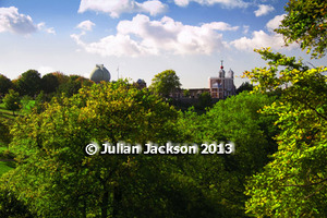 Observatory through Trees - Art photo