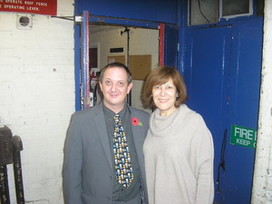 Martin with Lynda Bellingham