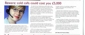 Beware cold callers - First4business mag