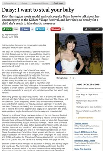 Daisy Lowe Interview Sunday Independent