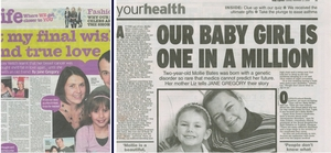 Daily Mirror and Daily Express articles