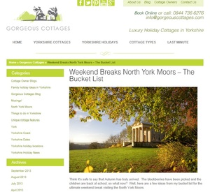 Copywriter/blogger for Gorgeous Cottages