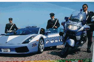 With Italian Police Lamborghini