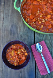 Hearty Sweet Potato and Chickpea Stew advertising