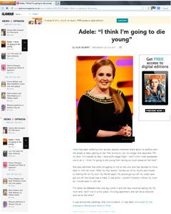 Glamour Magazine Adele news story
