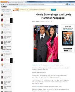 Glamour Magazine Nicole Scherzinger news