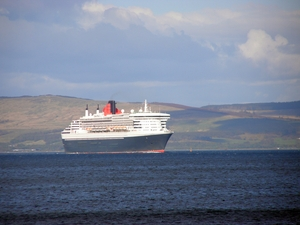 queen Mary 2 visit to the Clyde near Dunoon.
