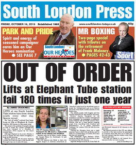 South London Press 13th October 2013