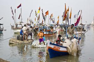Fishing village Mumbai India