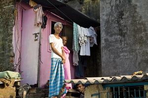 Slum life Mumbai India