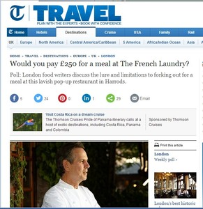 Telegraph Travel: opinion piece