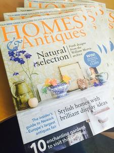 Homes & Antiques magazine cover story