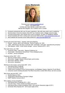Jenny Mackenzie CV