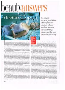 beauty article for Vogue (U.S.)