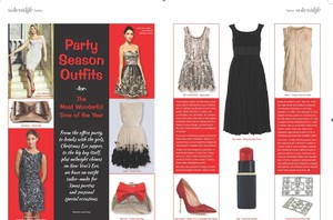 Fashion feature in lifestyle publication
