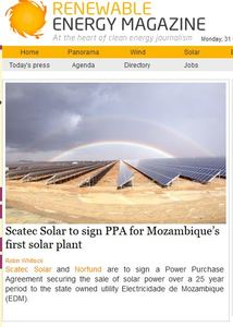Scatec Solar front page