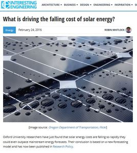 falling cost of solar