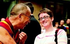 Dalai Lama with Maggie