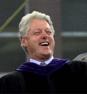 Clinton laughing