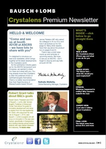 Bausch + Lomb newsletter (USA)