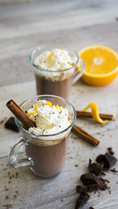 cointreau orange hot chocolate (