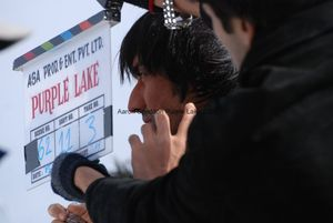 Aashish Chaudhary on set of Purple Lake