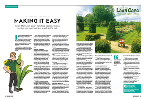 Green Man Lawn Care editorial for Making Money