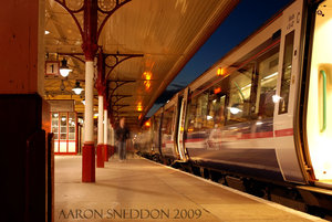 Person departing Train in Aviemore
