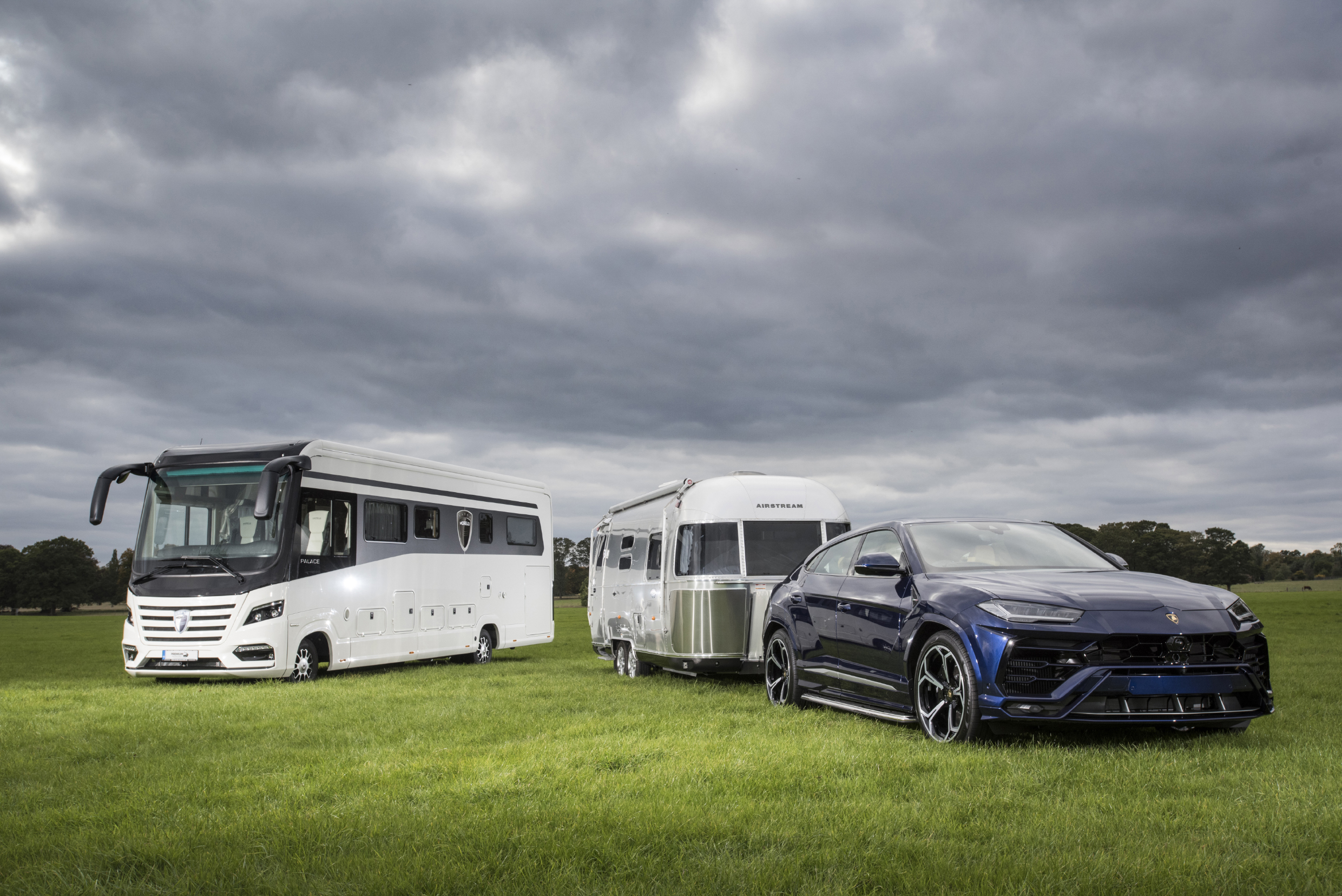 Luxury £270,000 motorhome and Airstream towed by new