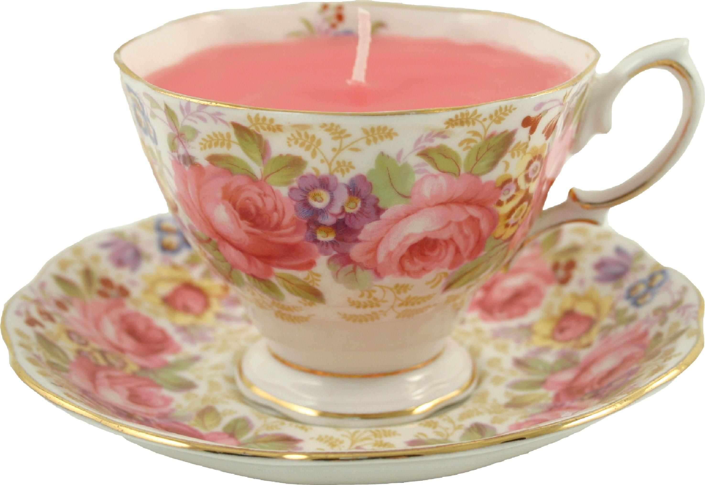 Just her cup of tea... elegant vintage tea cup candles