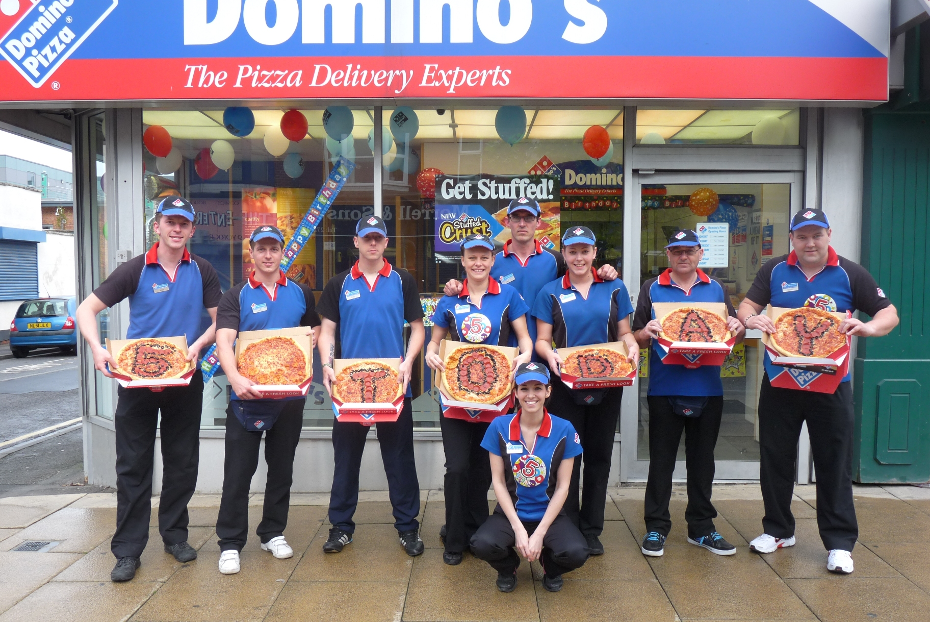 Dominos Celebrates Five Years In Hartlepool