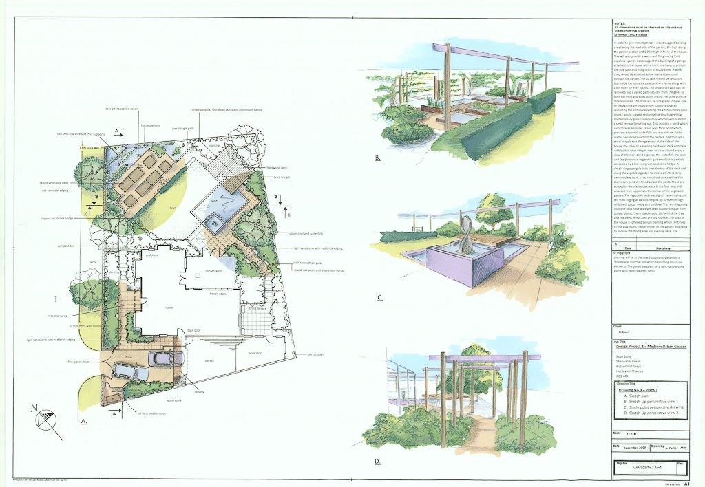 RECESSION ALLOWS STUDENTS OF THE OXFORD COLLEGE OF GARDEN DESIGN TO on garden center, permaculture design maps, garden plan maps,