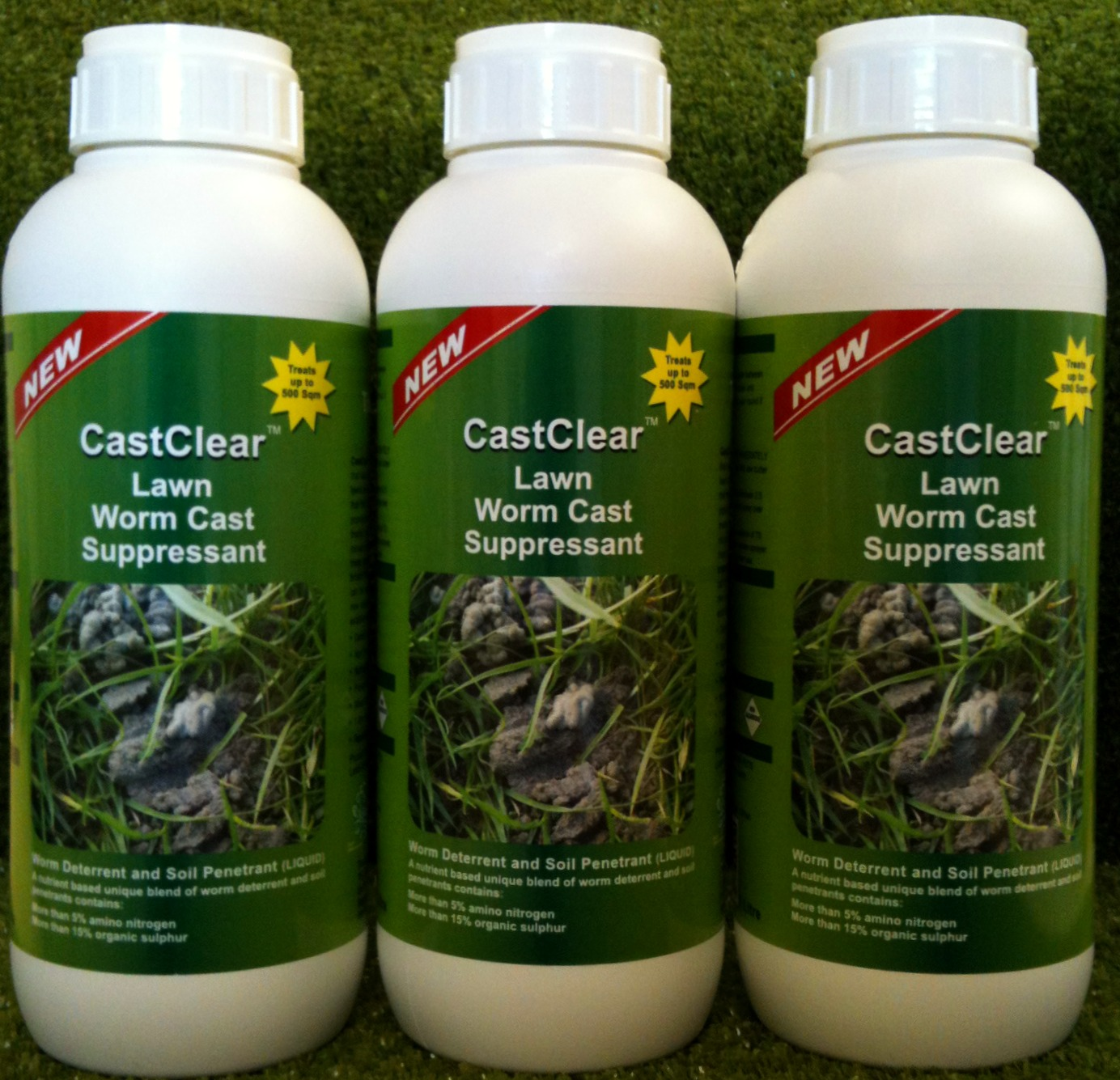 Lawn Worm Casts Castclear Is The Solution