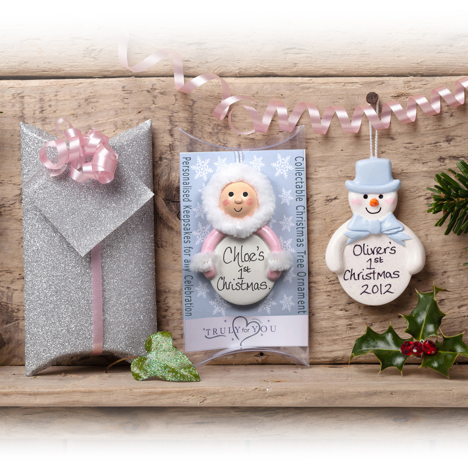 Personalised Baby S 1st Xmas Tree Gift