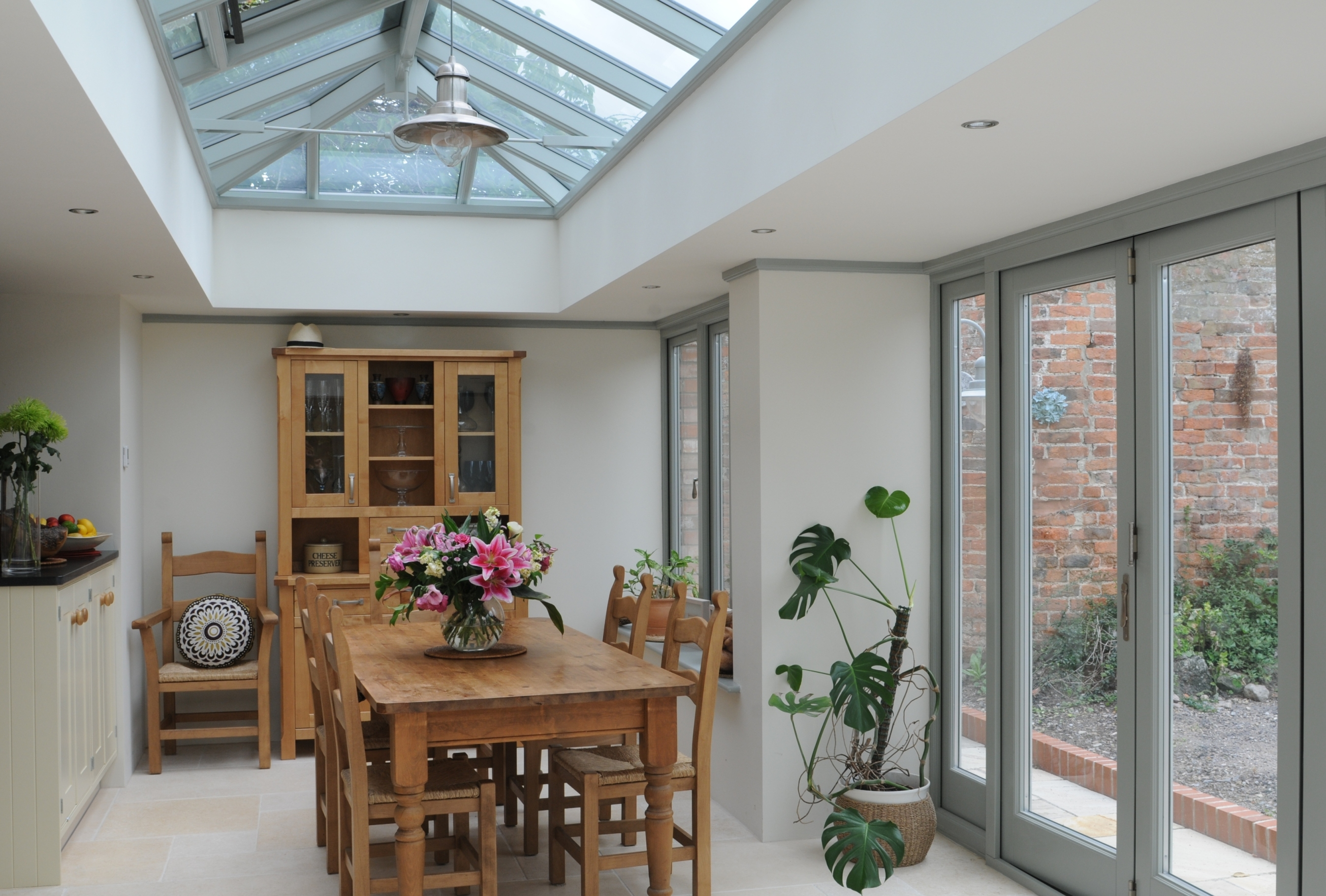 New orangery launch marks anglian sponsorship of ideal for Garden room extension interior