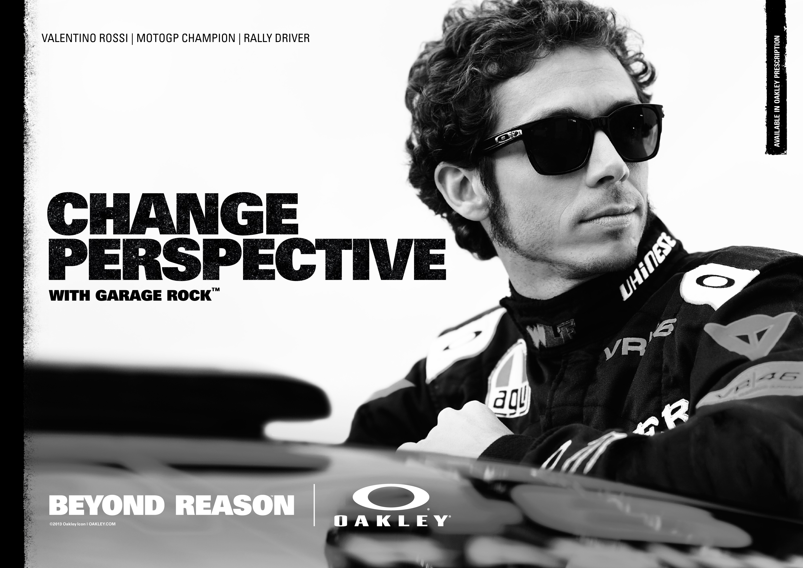 a391da2fe1d OAKLEY INVITES YOU TO CHANGE PERSPECTIVE. Wednesday 3 April 2013 PDF Print  · Valentino. MotoGP Rider. Rally Driver.