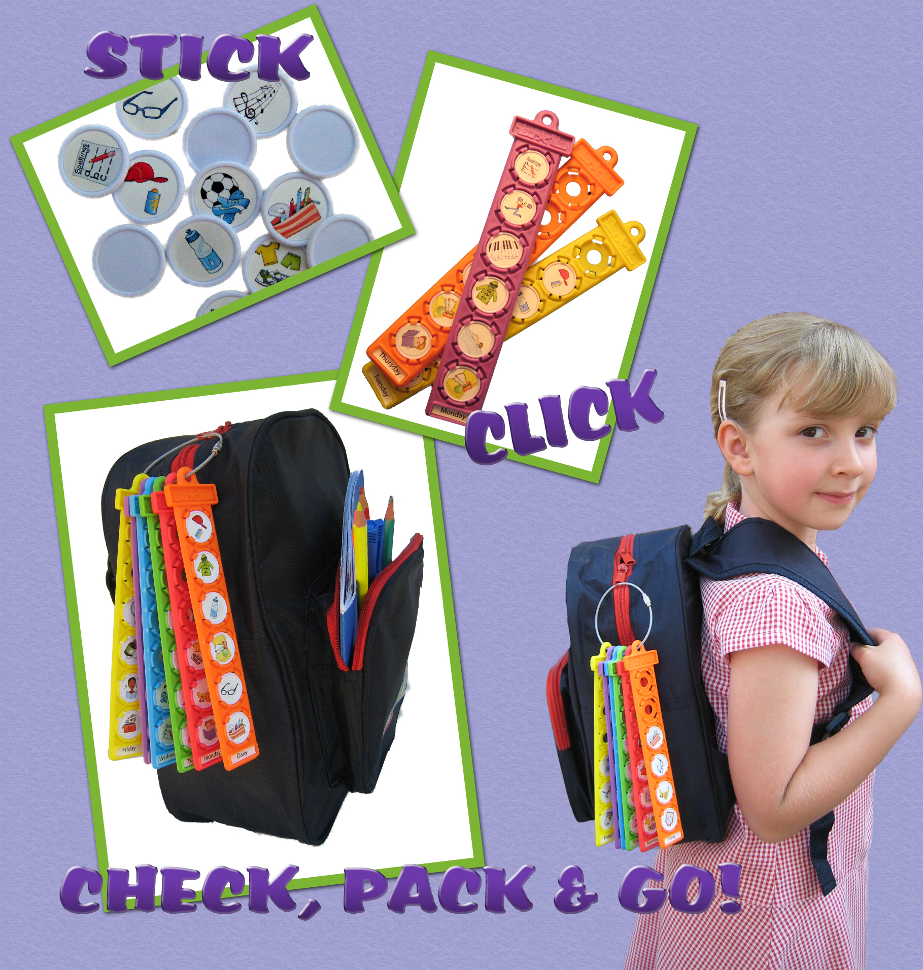 new tool that helps kids pack their bag for school
