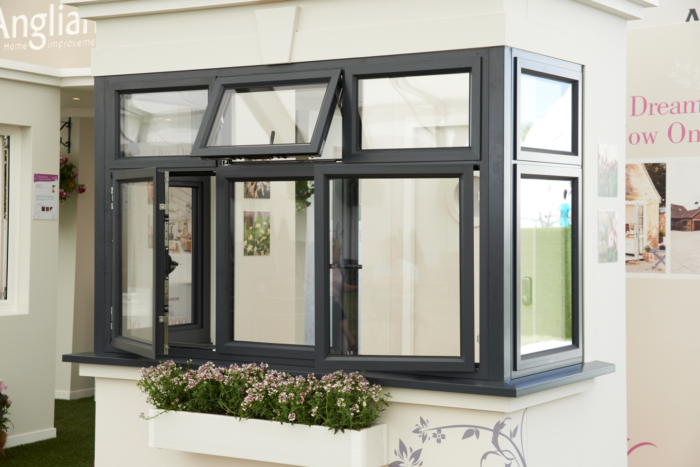 Powder Coated Windows : Anglian launches new range of aluminium windows and doors