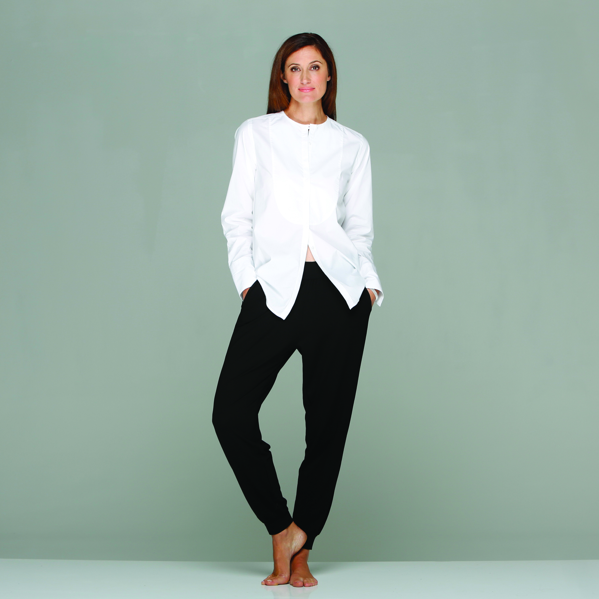 Rae feather unveils her debut aw13 online womenswear for Crisp white cotton shirt
